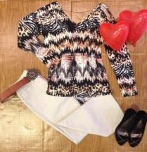 Trendy Store_Blusa e calça flare